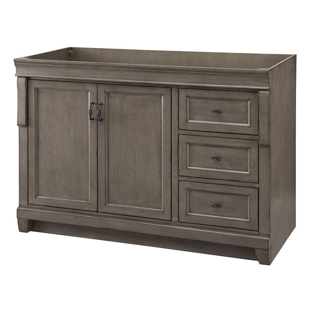 Home Decorators Collection Naples 48 in W Vanity Cabinet Only in Distressed GreyNADGA4821D