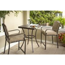 Hampton Bay Castle Rock 3-piece Patio High Bistro Set With