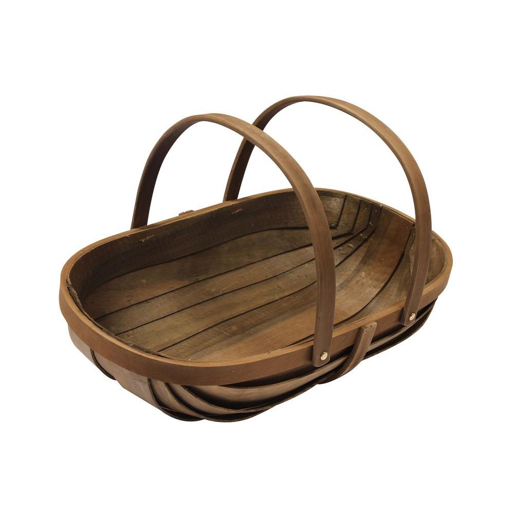 Joseph Bentley 21 in. Wooden Garden Trug