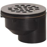 2 in. Black ABS Hub Offset Shower Drain with Strainer-825 ...