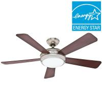 GE Treviso 52 in. Brushed Nickel Indoor LED Ceiling Fan