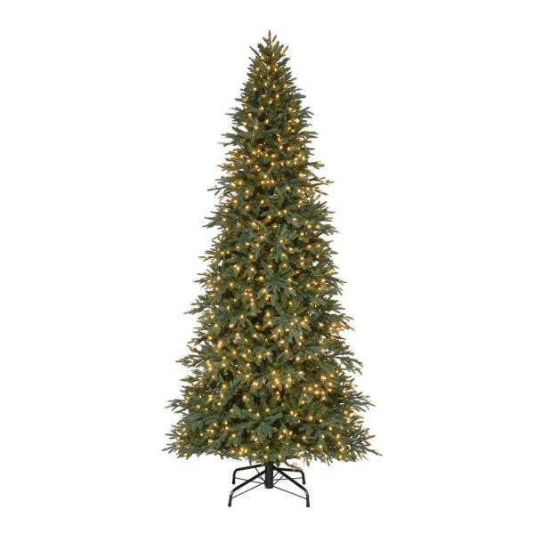 Home Accents Holiday 10 Ft. Pre-lit Led Meadow Quick-set Artificial Christmas Tree With Warm
