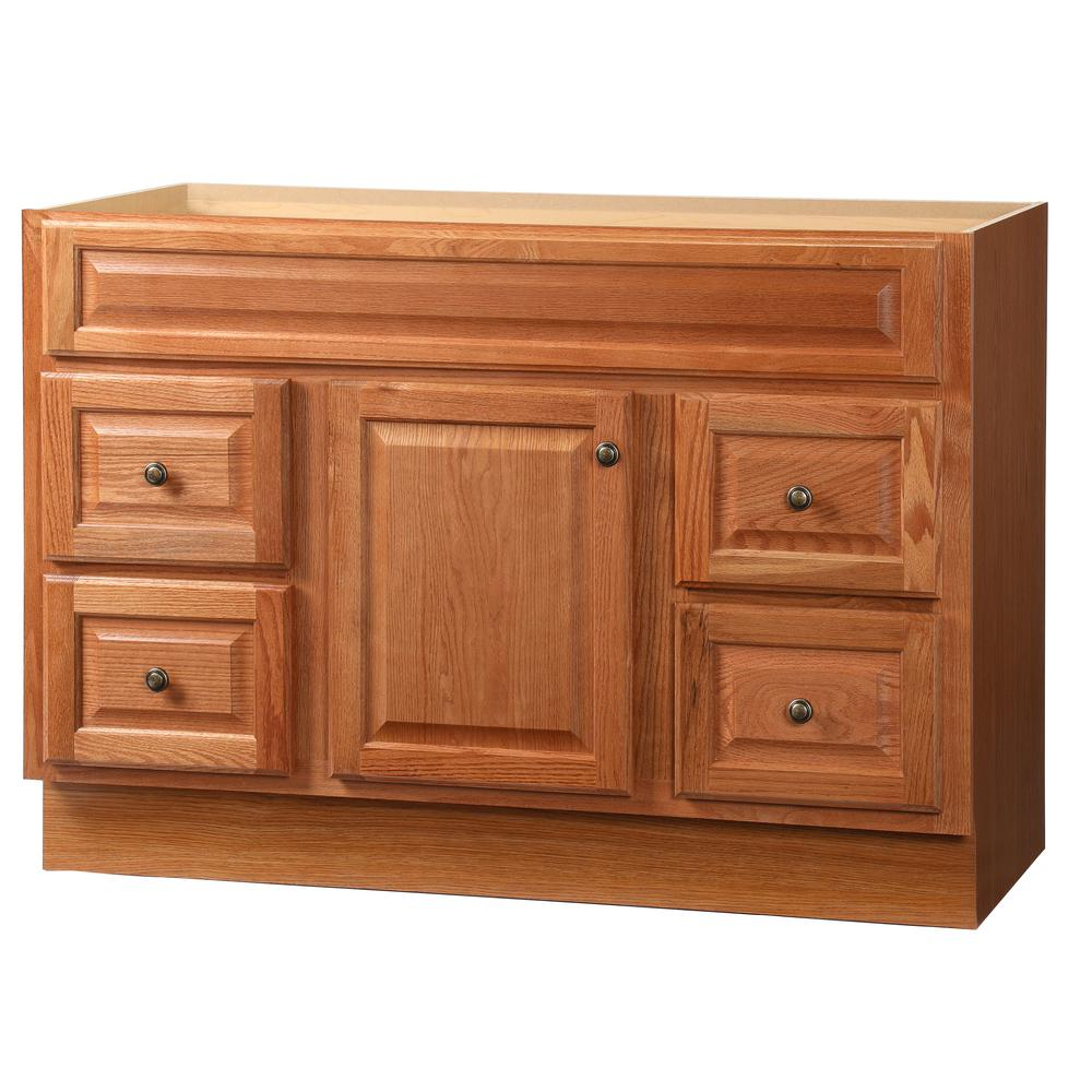 Glacier Bay Casual 48 in W x 21 in D x 335 in H Vanity Cabinet Only in CognacCACO48DY  The
