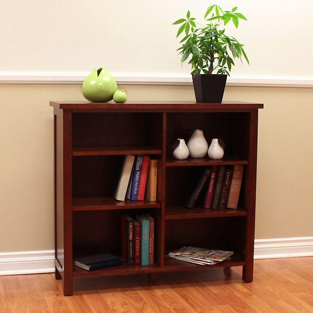 Concepts In Wood Midas Double Wide 6 Shelf Bookcase In