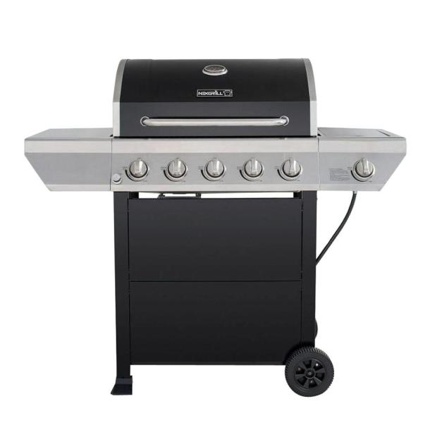 Propane Gas Grill with Side Burner