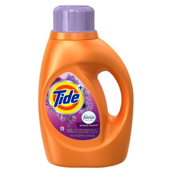 Tide 46 Oz. Spring And Renewal Liquid Laundry Detergent With Febreze 24 Loads -003700087564