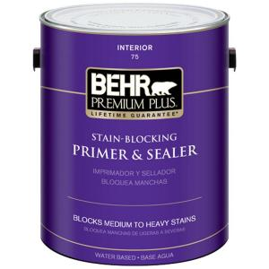 BEHR Premium Plus 1-Gal. Stain-Blocking Primer and Sealer Interior