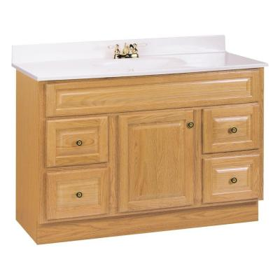 Glacier Bay Hampton 48 in W Vanity Cabinet Only in OakHOA48DY  The Home Depot