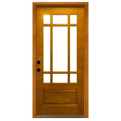 Steves & Sons 32 in. x 80 in. Craftsman 9 Lite Stained