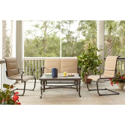 Hampton Bay Belleville Padded Sling 4Piece Patio Seating