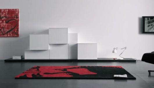 modern lacquered tv cabinet spazio box volumi furniture 2