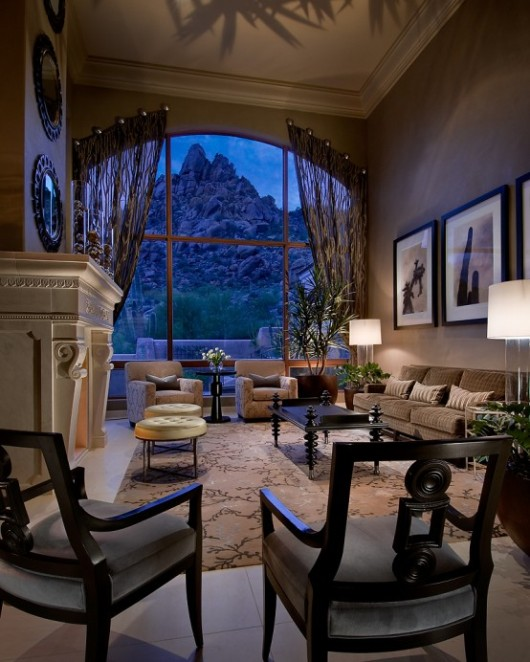modern spanish house living room interiors