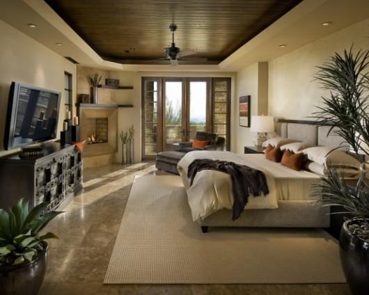 modern spanish house master bedroom interiors