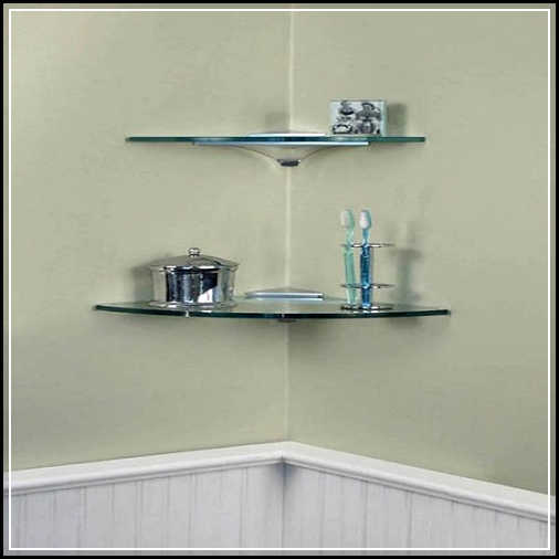 Beautiful DIY Bathroom Wall Shelf from Wood and Metal or