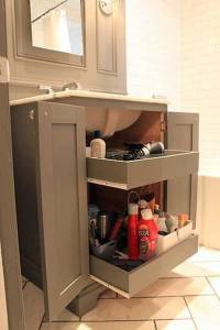 Cool Pull-out Storage Ideas For Bathroom - HomeDesignInspired