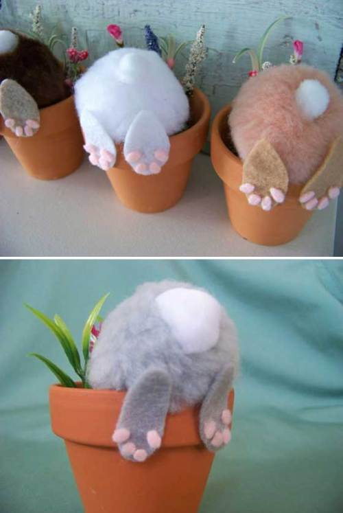 Cute and easy Easter bunny kids craft