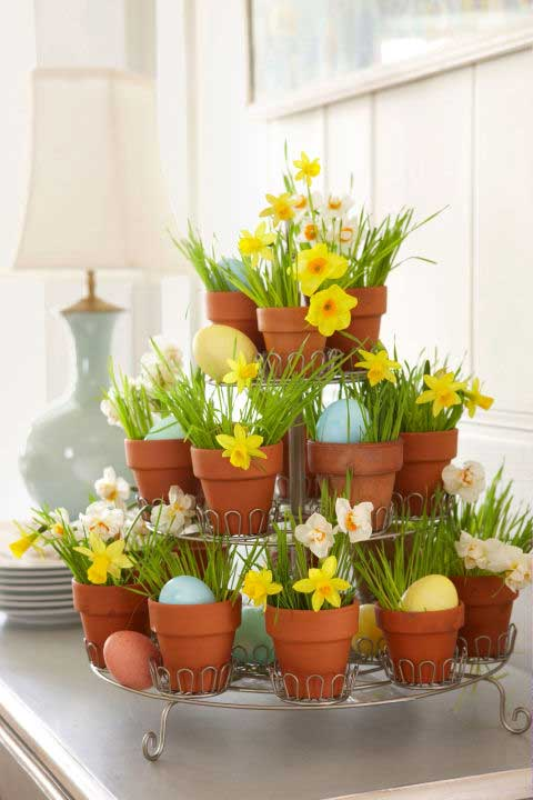 31 Chic DIY Easter Centerpieces To Dress Up Your Dinner Table HomeDesignInspired