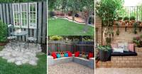 23 Easy-to-Make Ideas Building a Small Backyard Seating ...