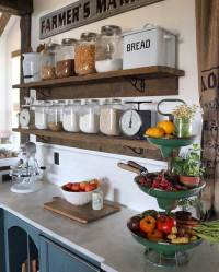 Top 29 DIY Ideas Adding Rustic Farmhouse Feels To Kitchen ...