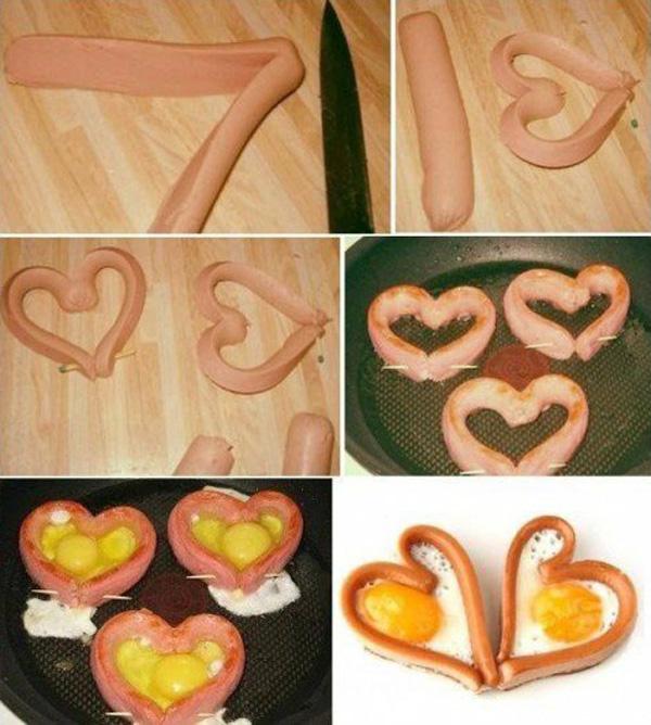 Sausage and Egg Heart