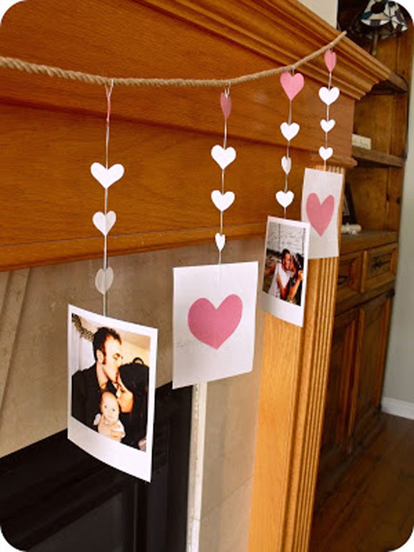 Strung the photos on string