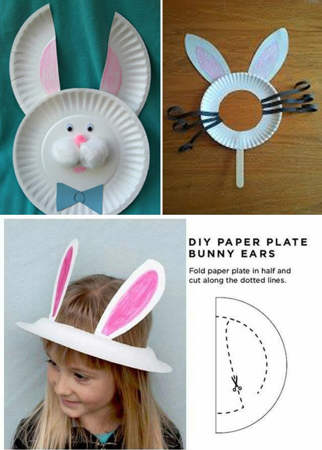 Easter Bunny from Small Paper Plates