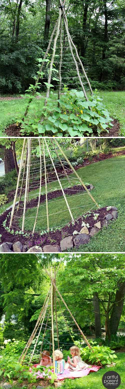 19 Successful Ways To Building Diy Trellis For Veggies And