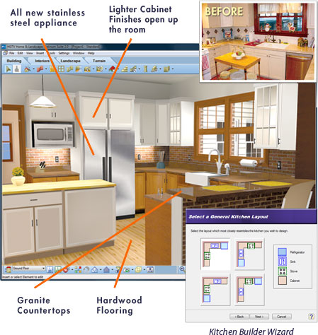 kitchen software white sink undermount hgtv design no experience necessary using a wizard driven interface with drag and drop simplicity s makes it easy plus