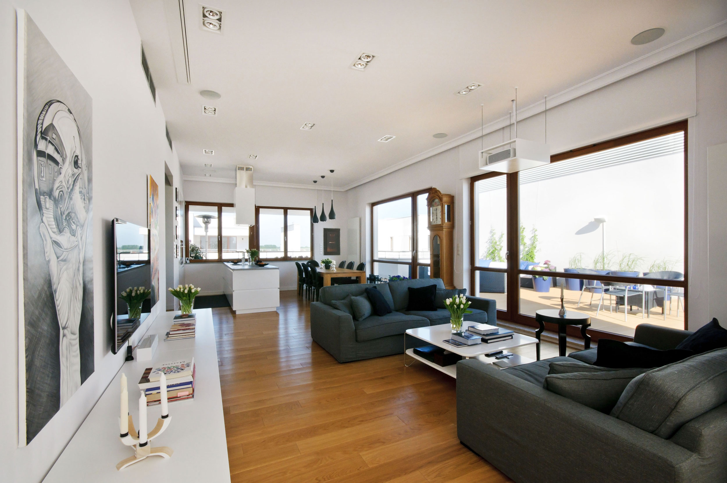 Penthouse in Wilanw by HOLA Design  Homedezen