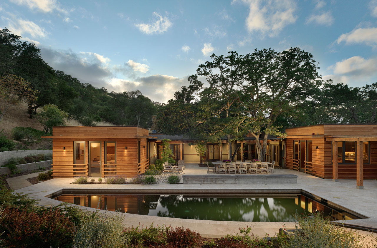 Contemporary ranch style house in California