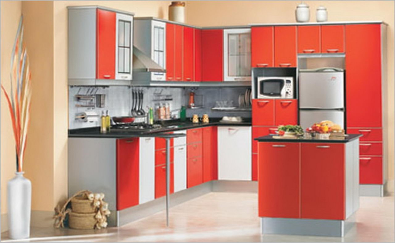 indian modular kitchen interior design - homedizz