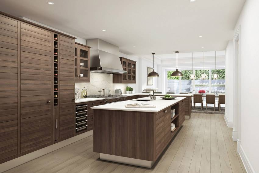 13 Contemporary Kitchens With Limestone And Rich Wood