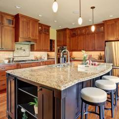 Sample Living Room Layouts Decorating On A Budget Contemporary Kitchen With Light Granite Counters Dark Wood ...