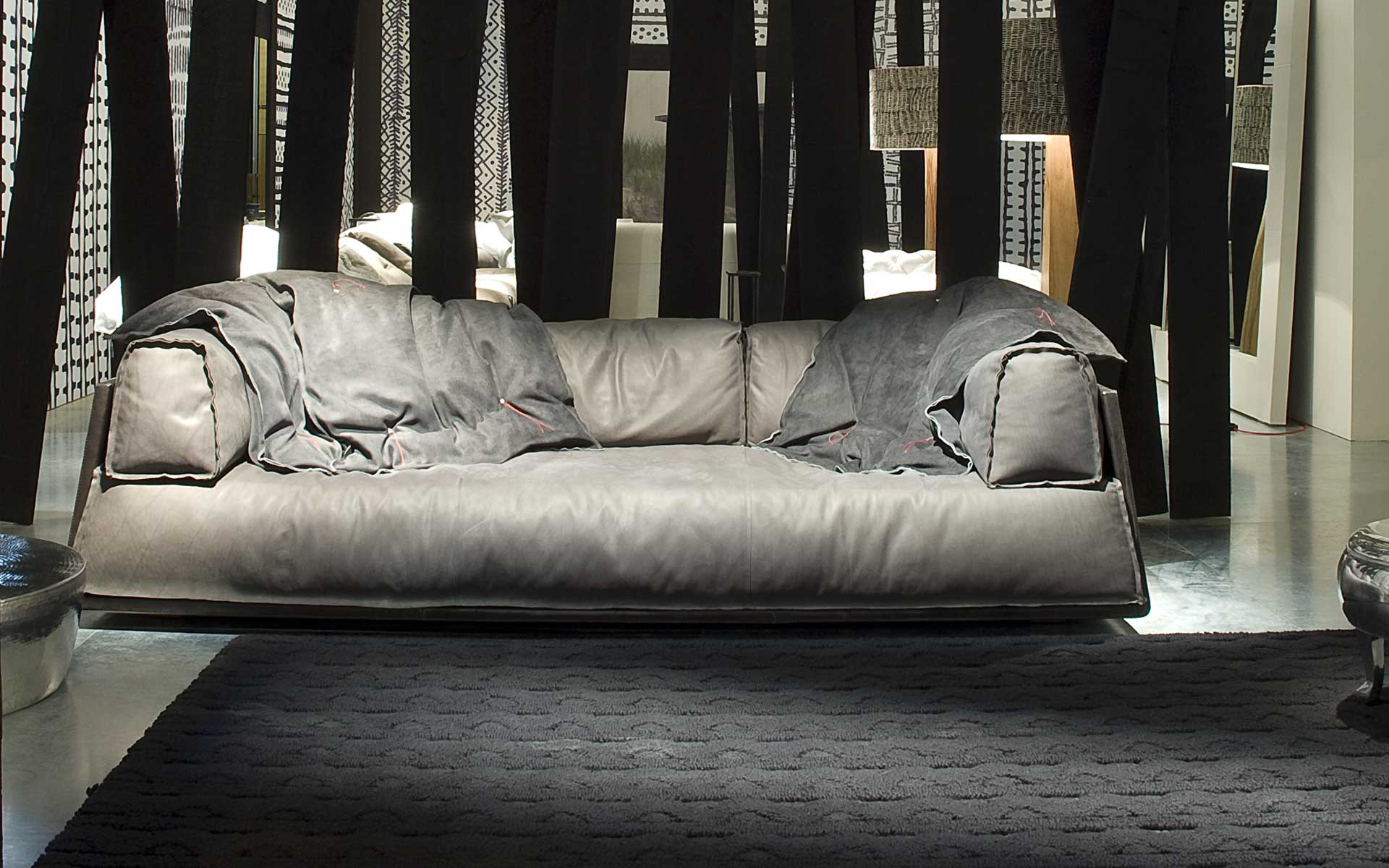 one sofa living room ideas with light gray couch baxter from italy brings fine sofas home | interior design ...