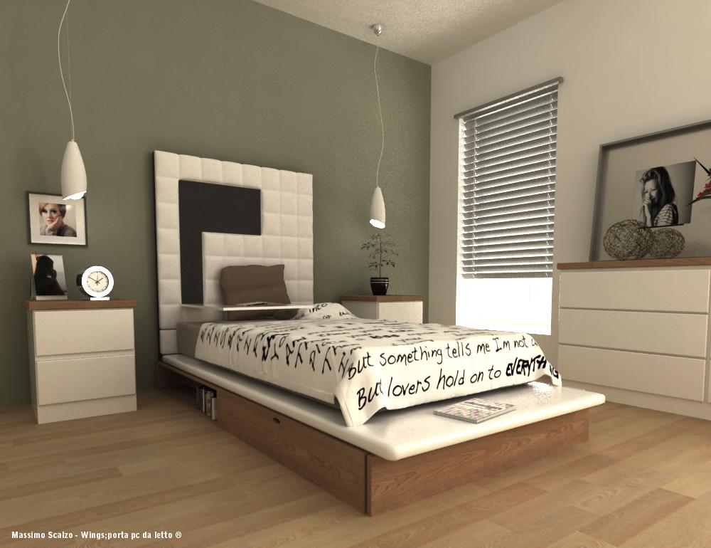 Unique bed PC holder for modern homes  Interior Design