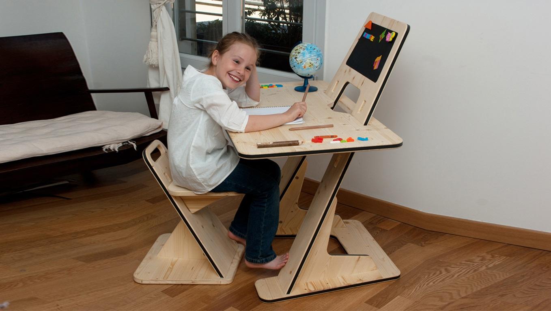 kids chair desk wicker chaise lounge chairs the multipurpose azdesk from designer guillaume bouvet
