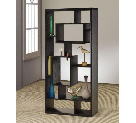 Enjoy A Decor And Shelf In One With An Asymmetrical Cube Bookcase
