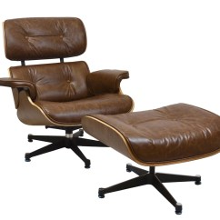 Eames Sofa Reproduction Snoozer Luxury Overstuffed In Red Charles Style Lounge Chair & Ottoman By ...