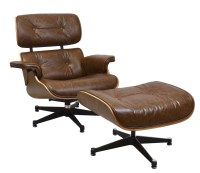 Charles Eames Style Reproduction Lounge Chair & Ottoman by ...