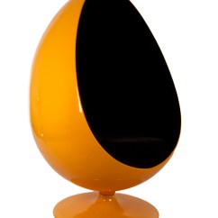 Orange Egg Chair Lightweight Folding Chairs And Black Reproduction By Home Elements Thumbnail 1