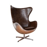Aviation Bonded Leather Egg Chair by Home Elements