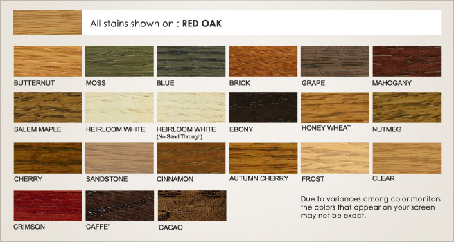 Hickory Wood Stain Options