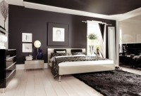 Black White Tan Bedroom
