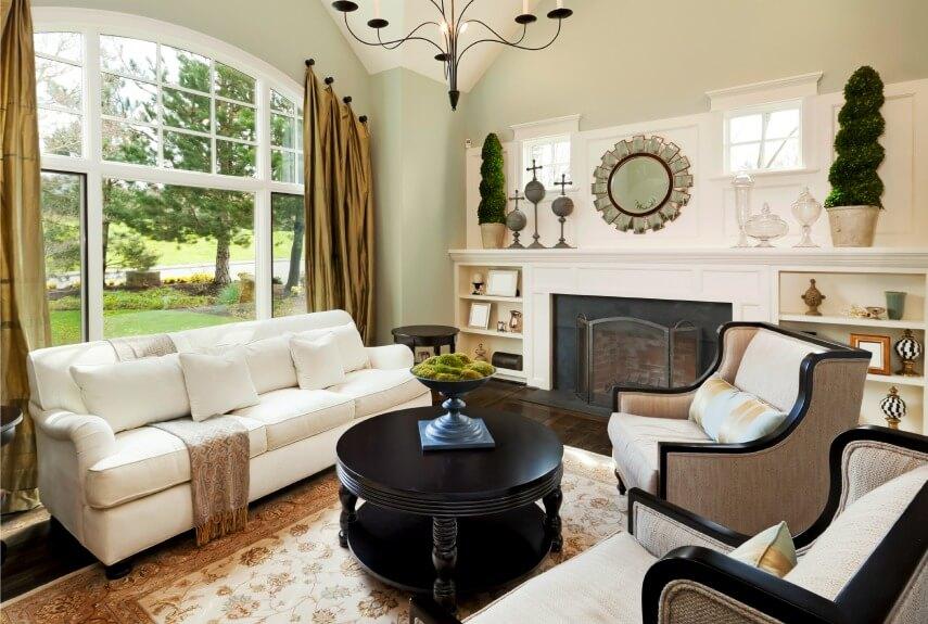 living-room-green-window-decor