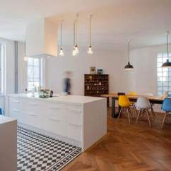 Kitchen Tile Floor Cabinet Design Software 36 Ideas Designs And Inspiration June 2017 Checkerboard Tiles In The Area Are A Nice Touch This Contemporary Open Plan Space
