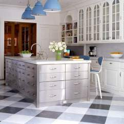 Kitchen Tile Floors Cement 36 Floor Ideas Designs And Inspiration June 2017 Mixing Black White Tiles With Gray Ones Keeps This Beautiful Light Airy
