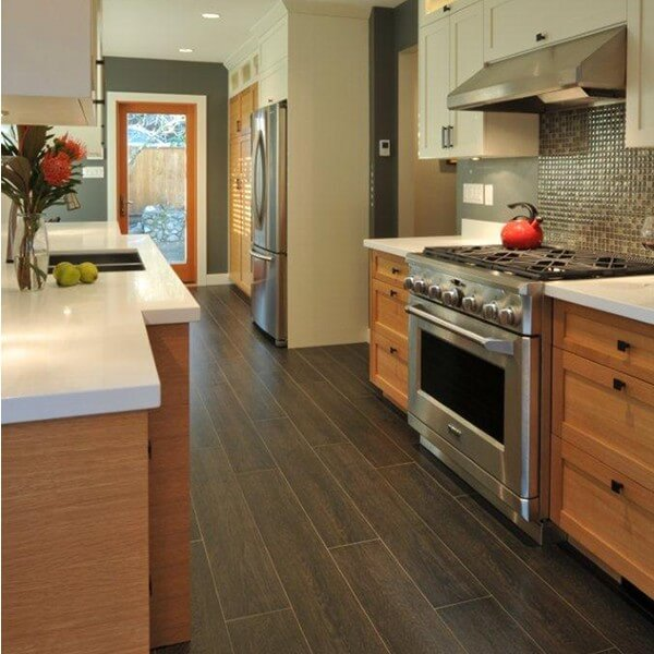 30 kitchen floor tile ideas designs and inspiration 2016 for Practical flooring ideas