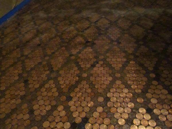 Penny Floor Template. copper penny floor template mesh