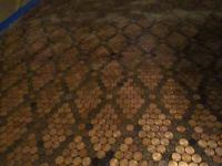 Penny Floor Template. copper penny floor template mesh