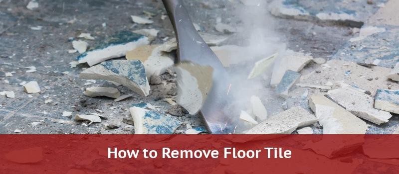 how to remove floor tile tools step